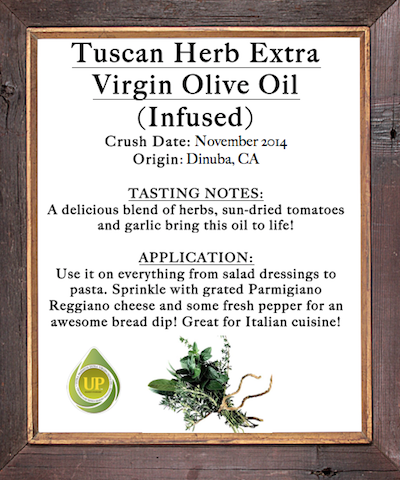 Tuscan Herb Extra Virgin Olive Oil (INFUSED)